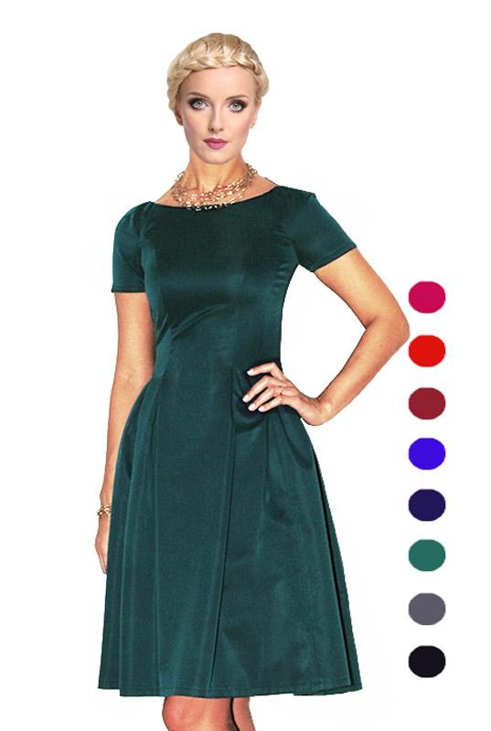 dd2f7eac7a LaKey 182 Rozkloszowana sukienka z rękawkiem