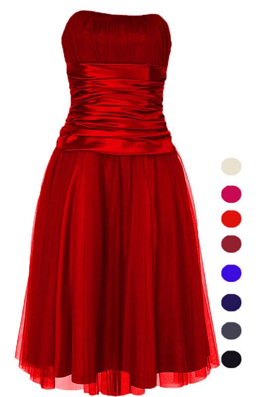 16aa1fb367 Gorsetowa sukienka tiulowa na wesele LaKey 191