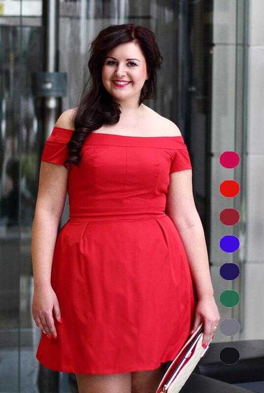 5835b572665839 Sukienki Rozkloszowane dla Puszystych na Wymiar. Suknie Duże ...