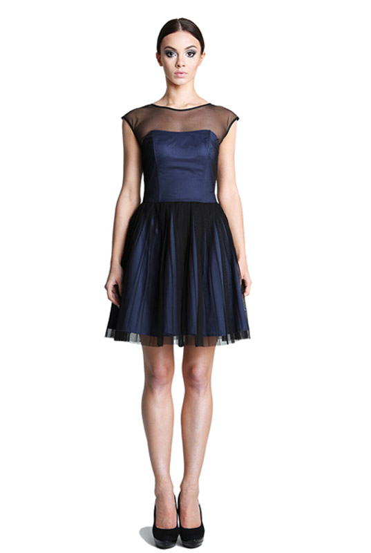 58391b4860705a Granatowa sukienka gorsetowa plisowana LaKey 251 dostawa w 24h. Wysyłka 24h