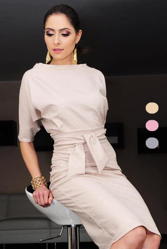 4ac15144b8 Kimonowa dopasowana sukienka z rękawem - LaKey 353