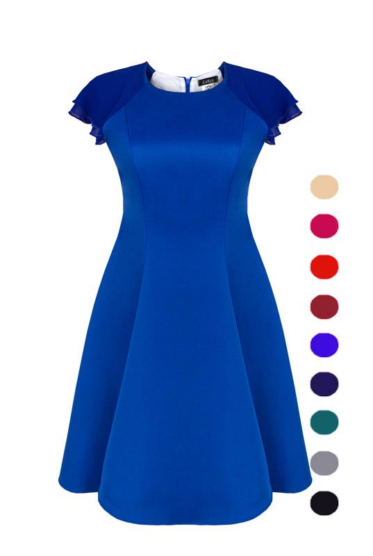 e8a3397fb7 LaKey Bella rozkloszowana sukienka z rękawkiem