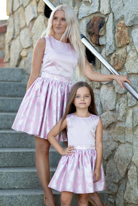 3567a52993 LaKey Flower zestaw sukienek mama i córka