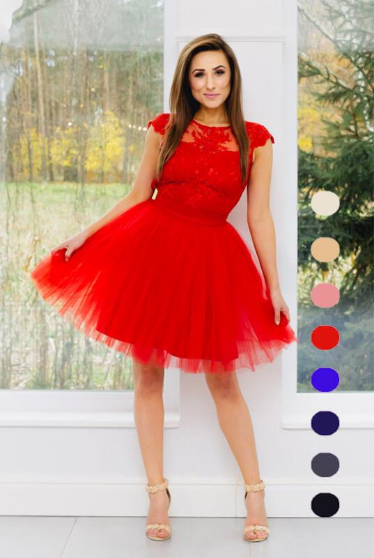 2780e8083c61a9 LaKey Dafne czerwona sukienka dostawa w 24h. Sukienki od ręki ...