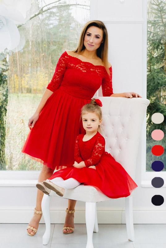 8ffca033f1 LaKey Mamba Midi zestaw sukienek mama i córka - sukienka dla córki