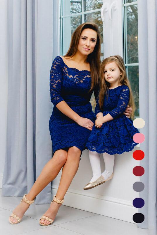 c7accf30cf LaKey Mia zestaw sukienek mama i córka - sukienka dla mamy
