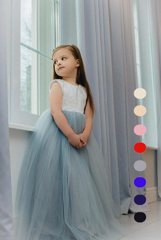 491c54ae2c LaKey Princess długa tiulowa sukienka dla dziewczynki