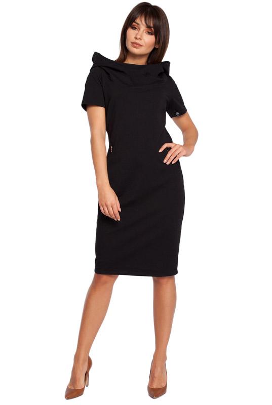 532fa55393 LaKey Sport 28 Prosta sukienka dresowa z kapturem czarna
