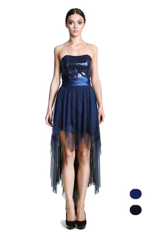 3ae6817ed11a4f LaKey 159 gorsetowa sukienka asymetryczna z cekinami. Sukienki ...