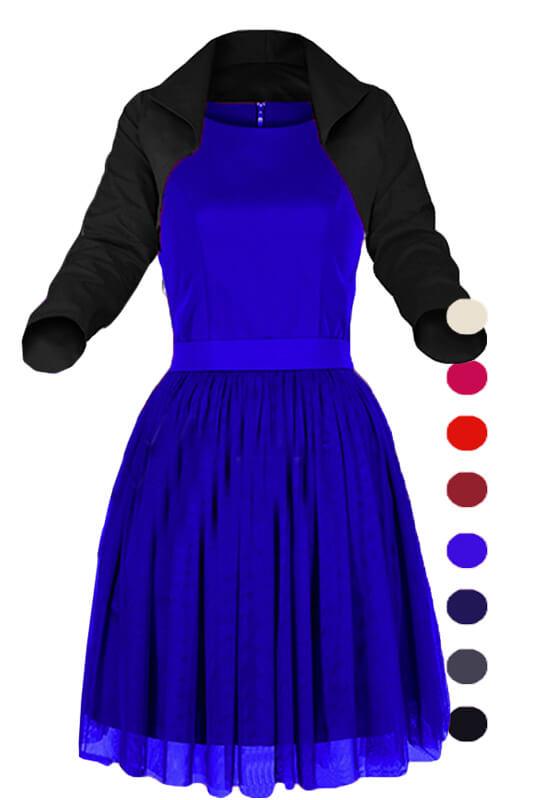 5540ba27a5 Sukienka tiulowa z bolerkiem LaKey 188k. Sukienki PLUS SIZE Sukienki ...