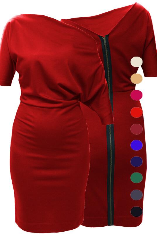LaKey 123 oversizowa sukienka do pracy. Sukienki PLUS SIZE
