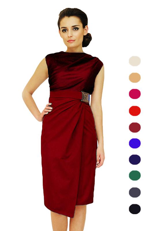 99751b553d LaKey 146 kopertowa sukienka z dekoltem woda. Sukienki PLUS SIZE ...