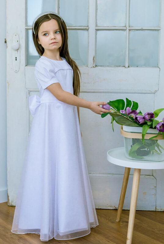 a1e32d15af LaKey Anastazja długa biała sukienka komunijna i pokomunijna . Dla ...