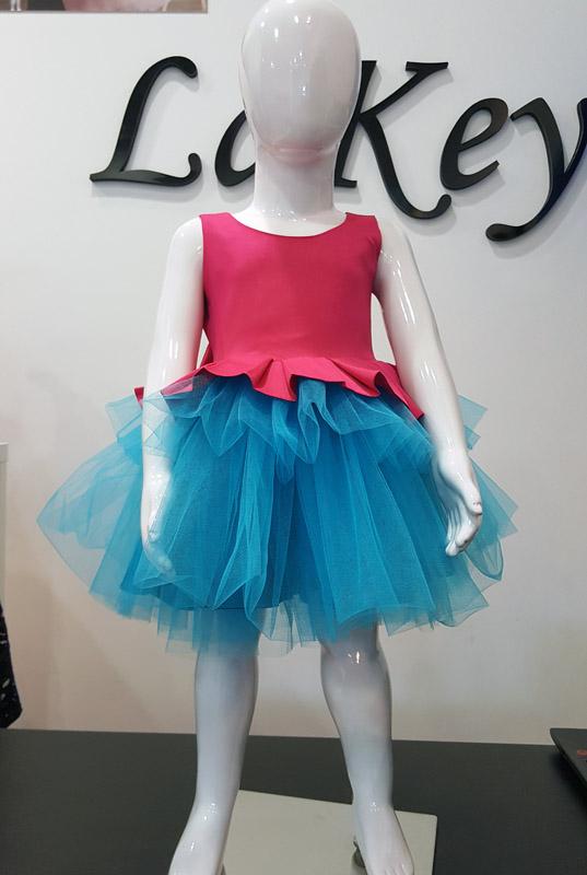 29b265a574 Sukienka LaKey Ariel różowa sukienka tiulowa z kokardą dla dziewczynki 3
