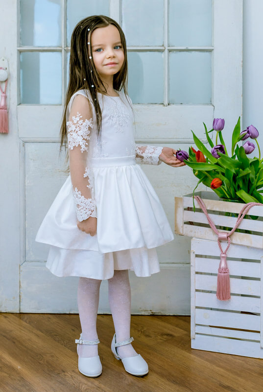 0c9e3d33e4 LaKey Clara sukienka koronkowa komunijna i pokomunijna . Dla dzieci ...
