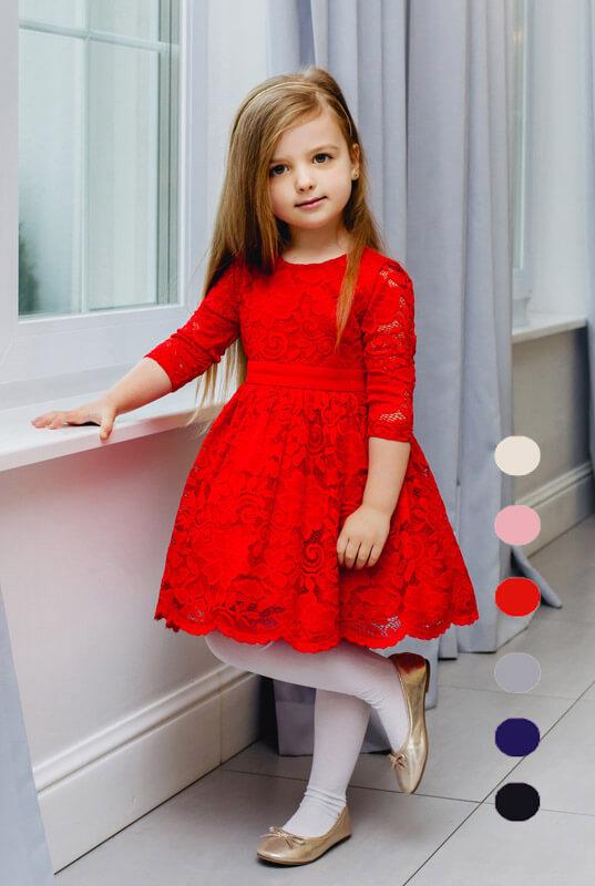 8321a5cbcd LaKey Cleo Dziecięca sukienka koronkowa. Dla dzieci - Sklep online z ...