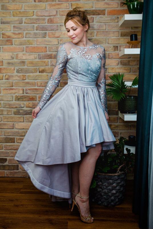 4aa3b487d9 LaKey Dafne koronkowa asymetryczna sukienka na wesele. Sukienki ...