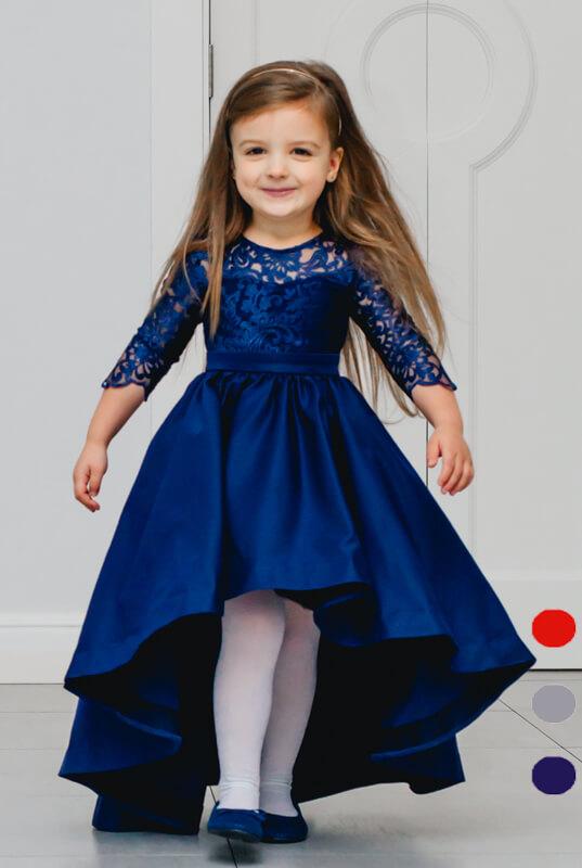 965471a3933db5 LaKey Dafne Asymetryczna sukienka koronkowa dla dziewczynki . Dla ...