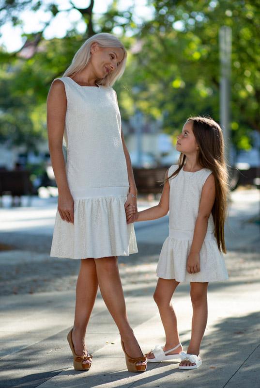 Lakey Lovely Ivory Zestaw Sukienek Mama I Córka Sukienka Dla Mamy