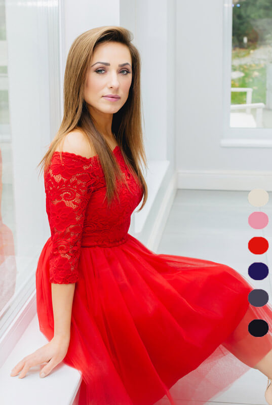 9f7c91d1ce LaKey Mamba Midi sukienka koronkowa z tiulem. Sukienki - Sklep ...