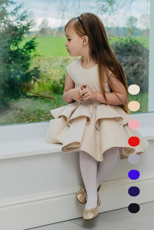 5ee884632a LaKey Mouse sukienka z falbankami dla dziewczynki. Dla dzieci ...