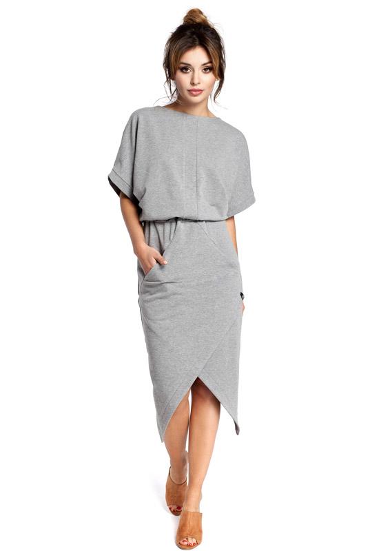 fc1881f9d6 LaKey Sport 29 Sukienka dzianinowa asymetryczna szara. Sukienki ...
