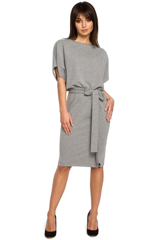 4d7353e111 LaKey Sport 58 Sukienka dzianinowa kimonowa szara. Sukienki dresowe ...