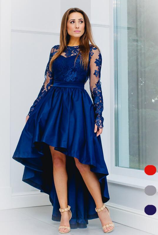 f5dd437085 LaKey Dafne koronkowa asymetryczna sukienka. Sukienki Wieczorowe ...