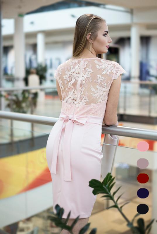 b8fbffcf0ca98c LaKey SARA prosta sukienka z koronkowym topem. Sukienki - Sklep ...